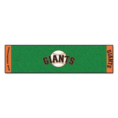 MLB San Francisco Giants 1 ft. 6 in. x 6 ft. Indoor 1-Hole Golf Practice Putting Green