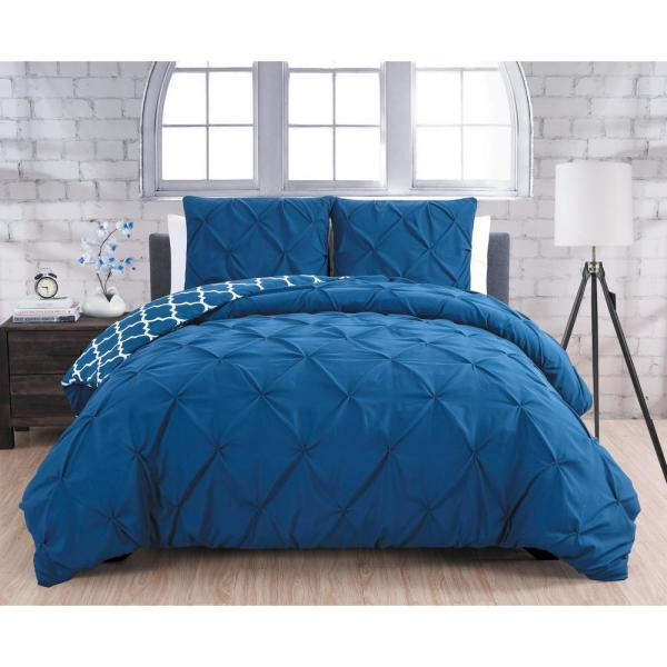 Avondale Manor Madrid Navy Queen 3-Piece Duvet Set MRD3DVQUENGHNV