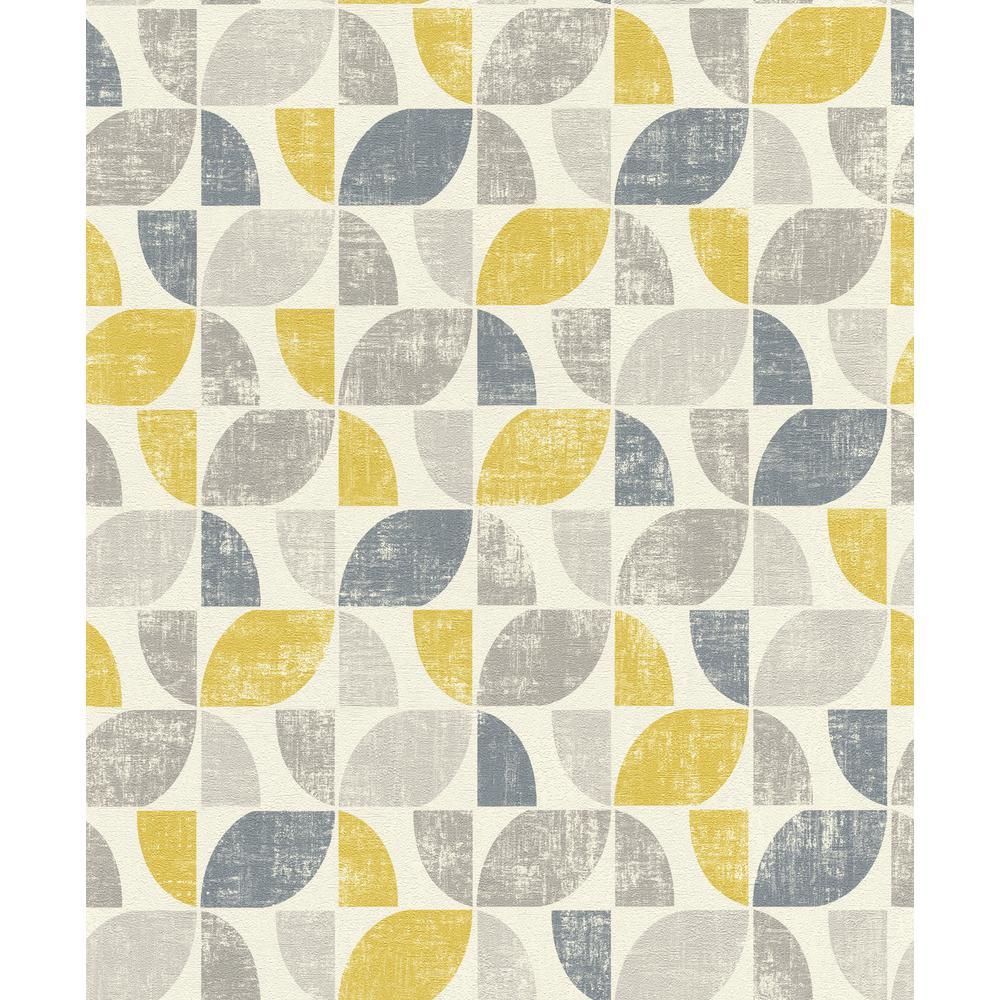 56.4 sq. ft. Dorwin Yellow Geometric Wallpaper