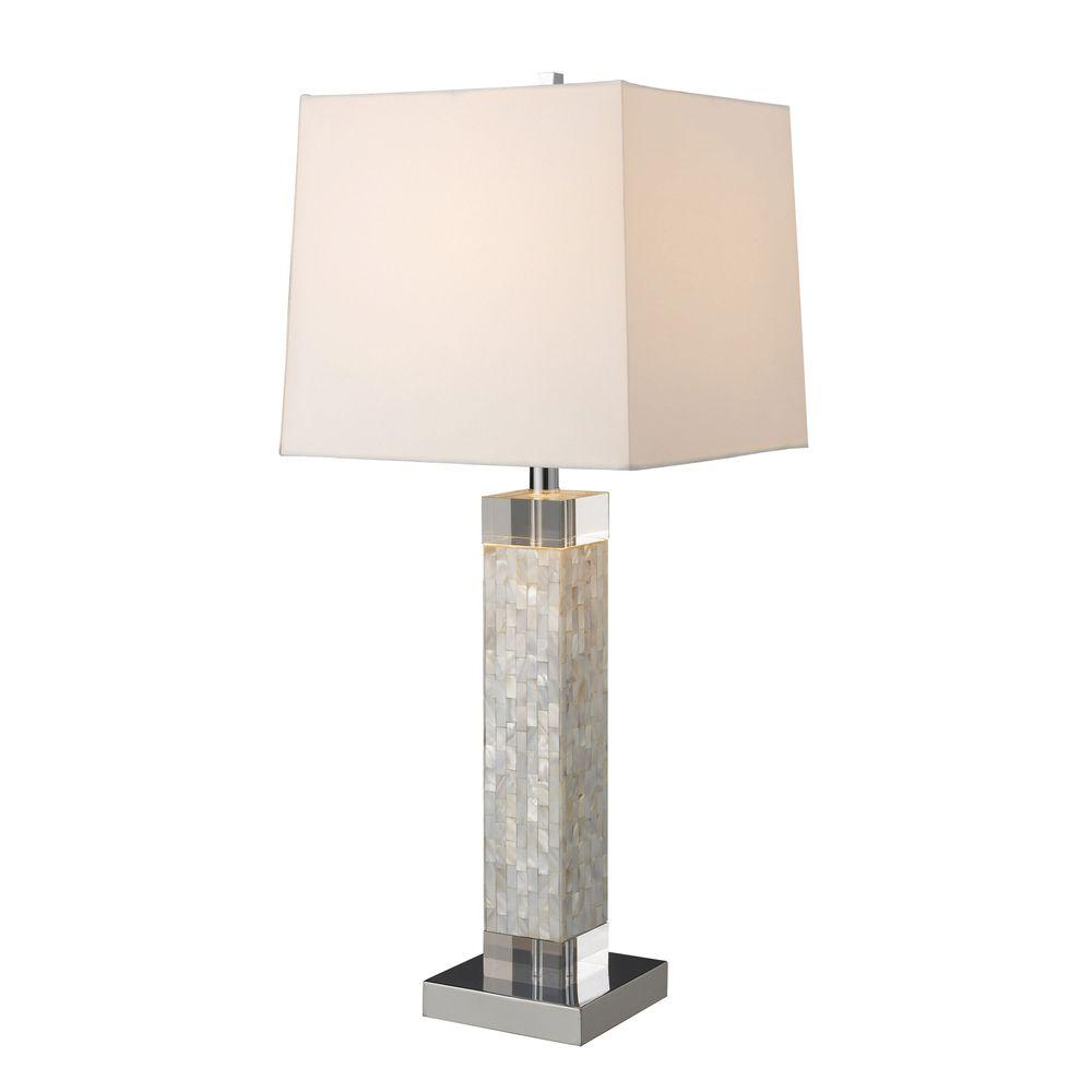Titan lighting luzerne 32 in mother of pearl table lamp with milano mother of pearl table lamp with milano off white shade aloadofball Choice Image