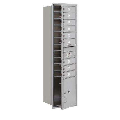 56-3/4 in. H x 16-3/4 in. W Aluminum Front Loading 4C Horizontal Mailbox with 9 MB1 Doors/1 PL