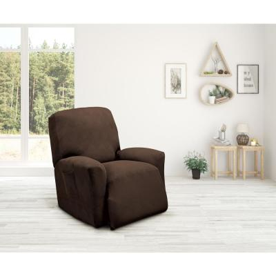 Chocolate Optic Recliner Stretch Slipcover