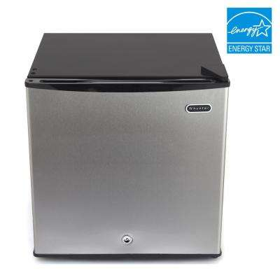 1.1 cu. ft. Energy Star Upright Freezer with Lock - Stainless Steel