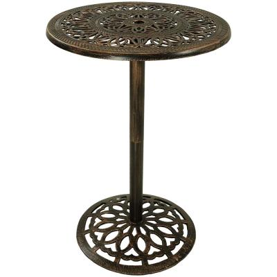 40 in. Cast Iron Bar-Height Patio Outdoor Round High Top Pub Table