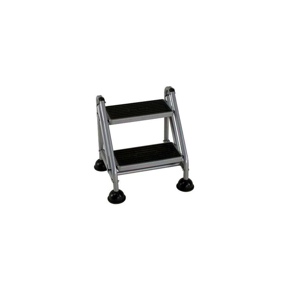2-Step Rolling Steel Step Ladder  sc 1 st  The Home Depot & Cosco 6 ft. 2-Step Rolling Steel Step Ladder-11824GGB1 - The Home ... islam-shia.org