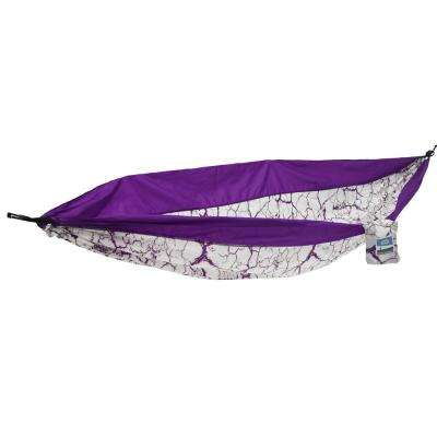 1-Person Purple Lightning Travel Hammock
