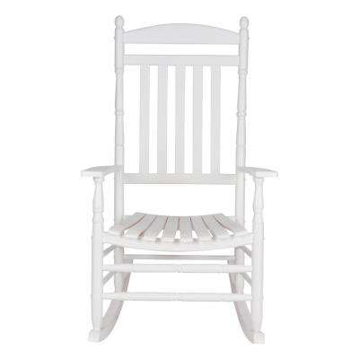 Pleasing Rhode Island White Wood Outdoor Porch Rocker Camellatalisay Diy Chair Ideas Camellatalisaycom