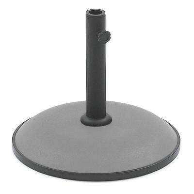 Suntime 33 lbs. Steel Patio Umbrella Base in Gray