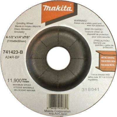4-1/2 in. x 7/8 in. x 1/4 in. 24-Grit General Purpose Metal Grinding Wheel (25-Pack)