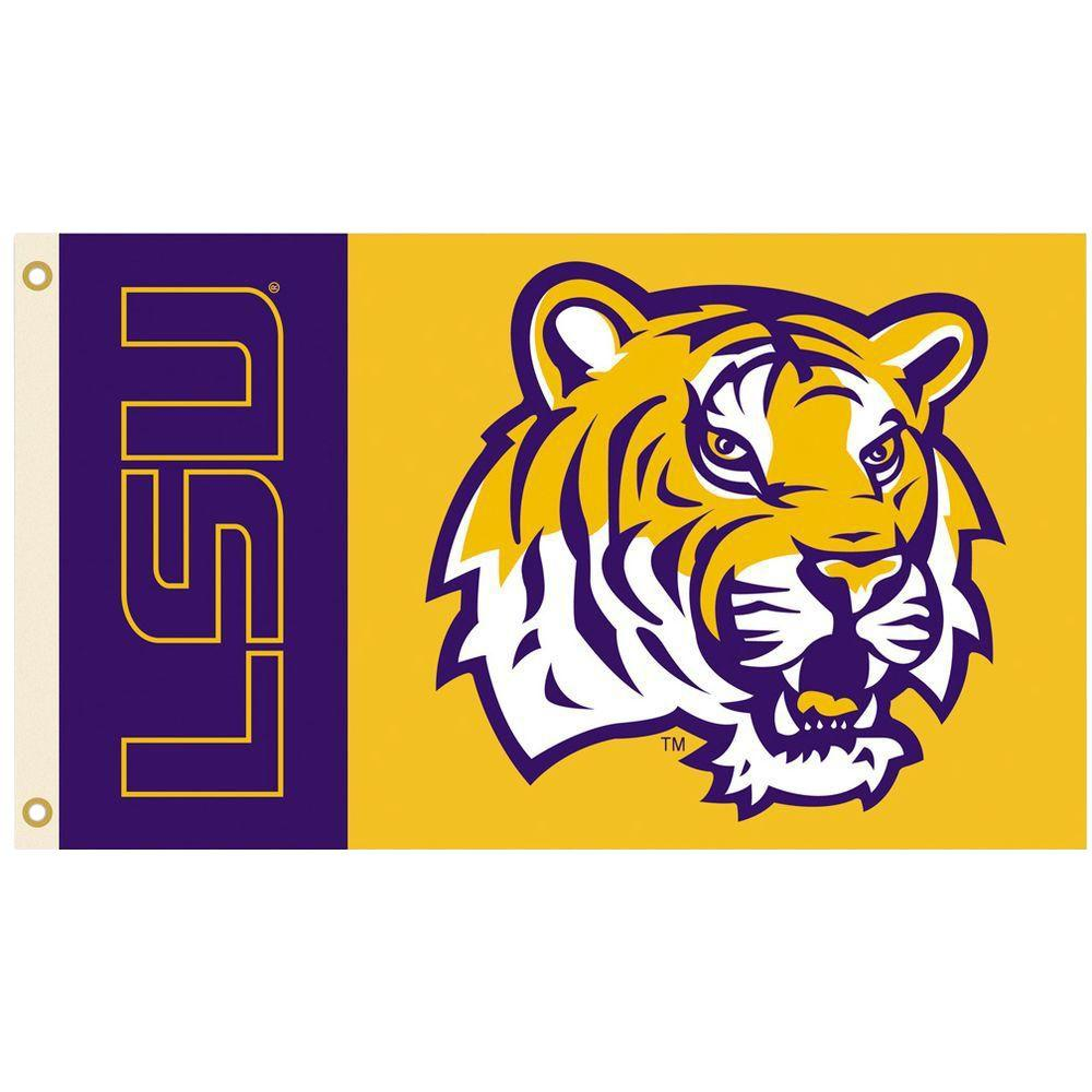 BSI Products NCAA 3 ft. x 5 ft. LSU Flag
