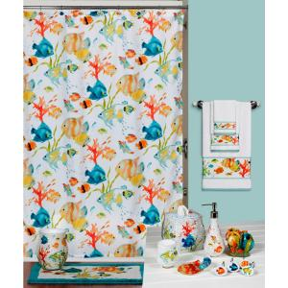 Creative Bath Shower Curtain creative bath rainbow fish 72 in. x 72 in. bright tropical-themed