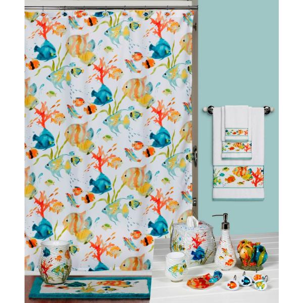 Delicieux Creative Bath Rainbow Fish 72 In. X 72 In. Bright Tropical Themed Shower  Curtain S1073MULT   The Home Depot
