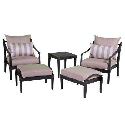 Astoria 5 Piece Patio Chat Set With Slate Grey Cushions