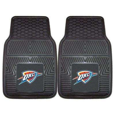 Oklahoma City Thunder 18 in. x 27 in. 2-Piece Heavy Duty Vinyl Car Mat