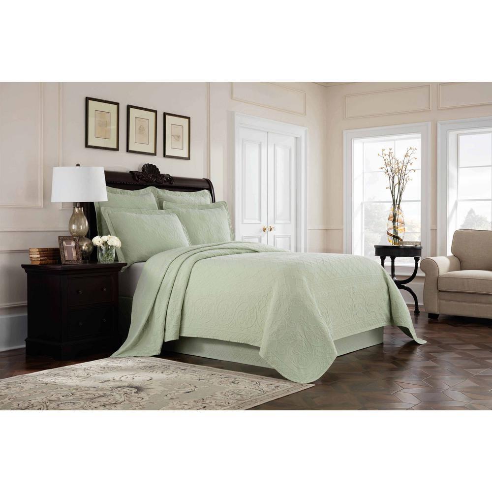 Williamsburg Richmond Green Solid Full Bed Skirt