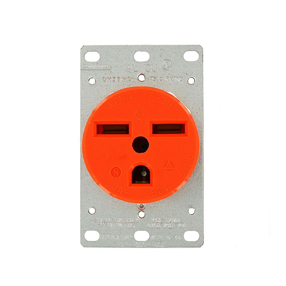 Leviton 30 Amp 250-Volt Flush Mounting Isolated Ground Ou...