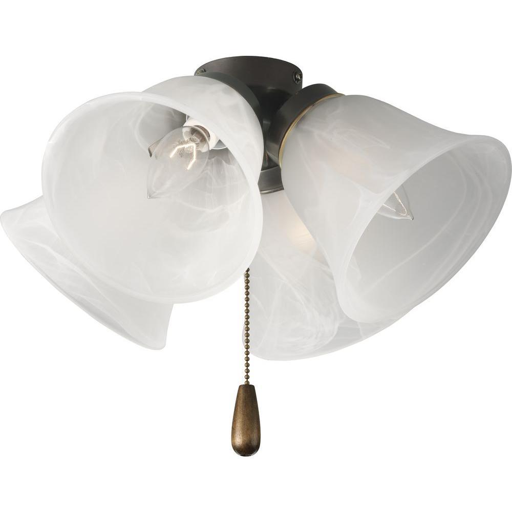 AirPro 4-Light Antique Bronze Ceiling Fan Light