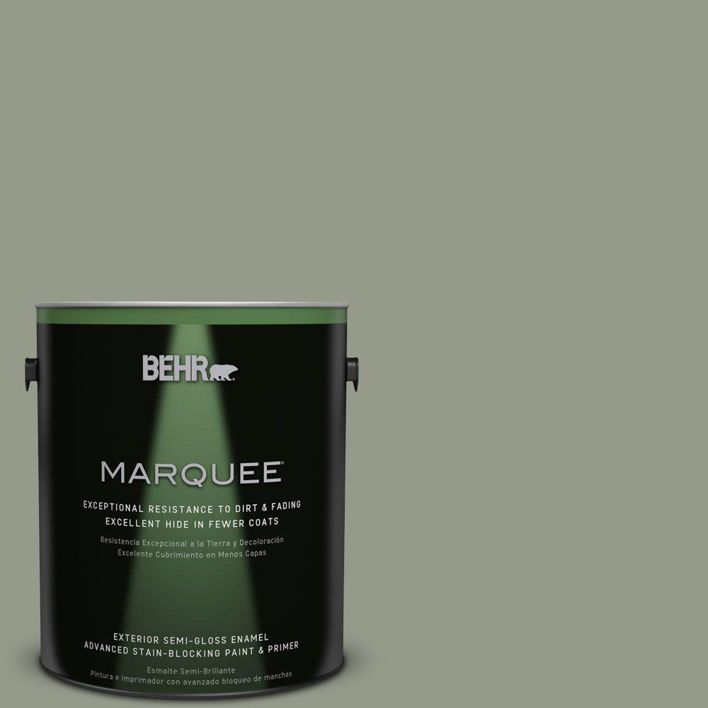 1-gal. #PMD-56 Laurel Leaf Semi-Gloss Enamel Exterior Paint
