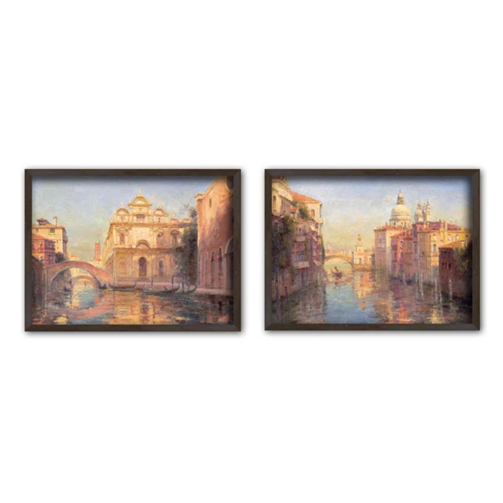 """11.5 in. x 15.5 in. """"Venetian Escape"""" Single-Matted Framed Wall Art"""