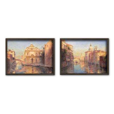 "11.5 in. x 15.5 in. ""Venetian Escape"" Single-Matted Framed Wall Art (Set of 2)"