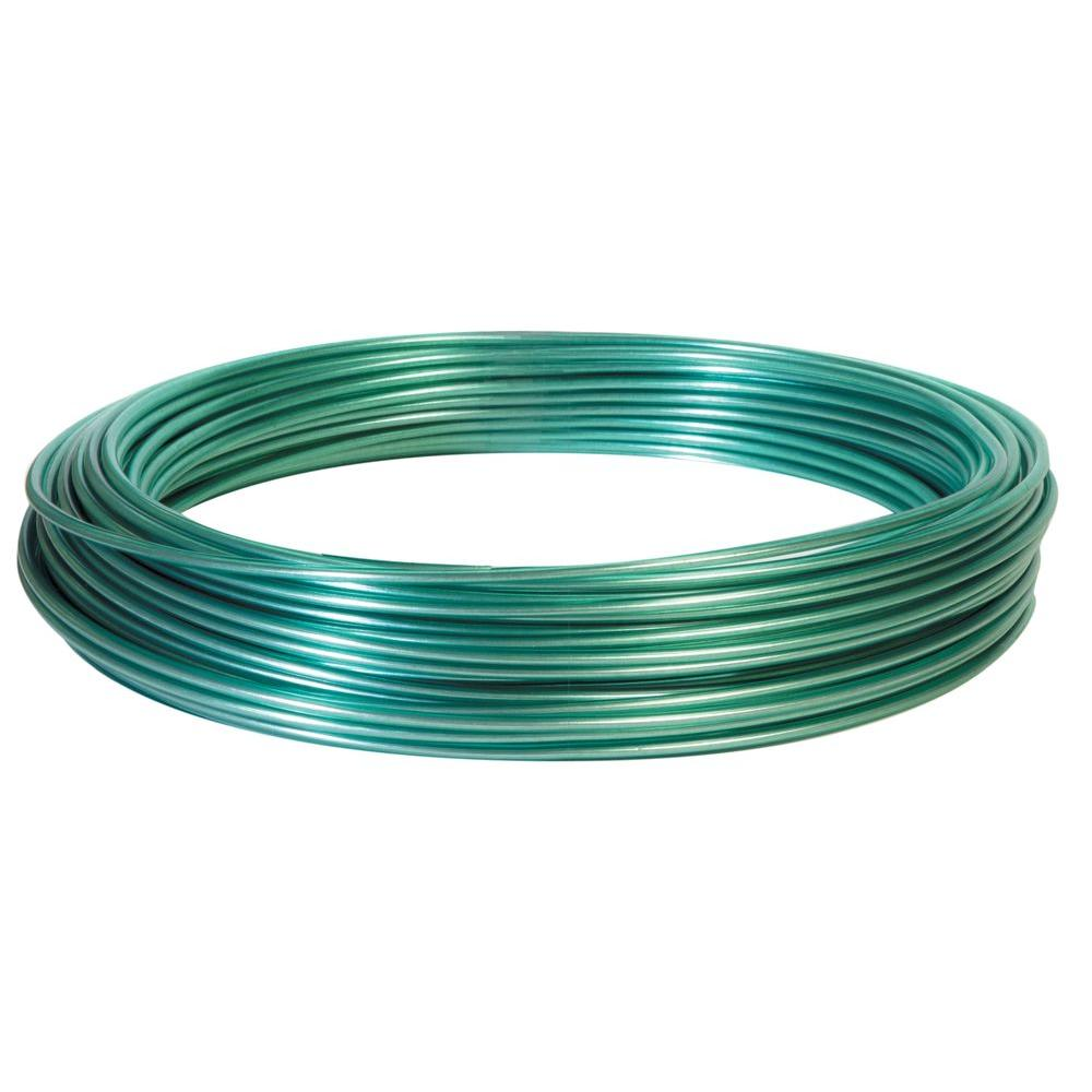 Hillman 100 ft. Plastic-Coated Galvanized Wire on