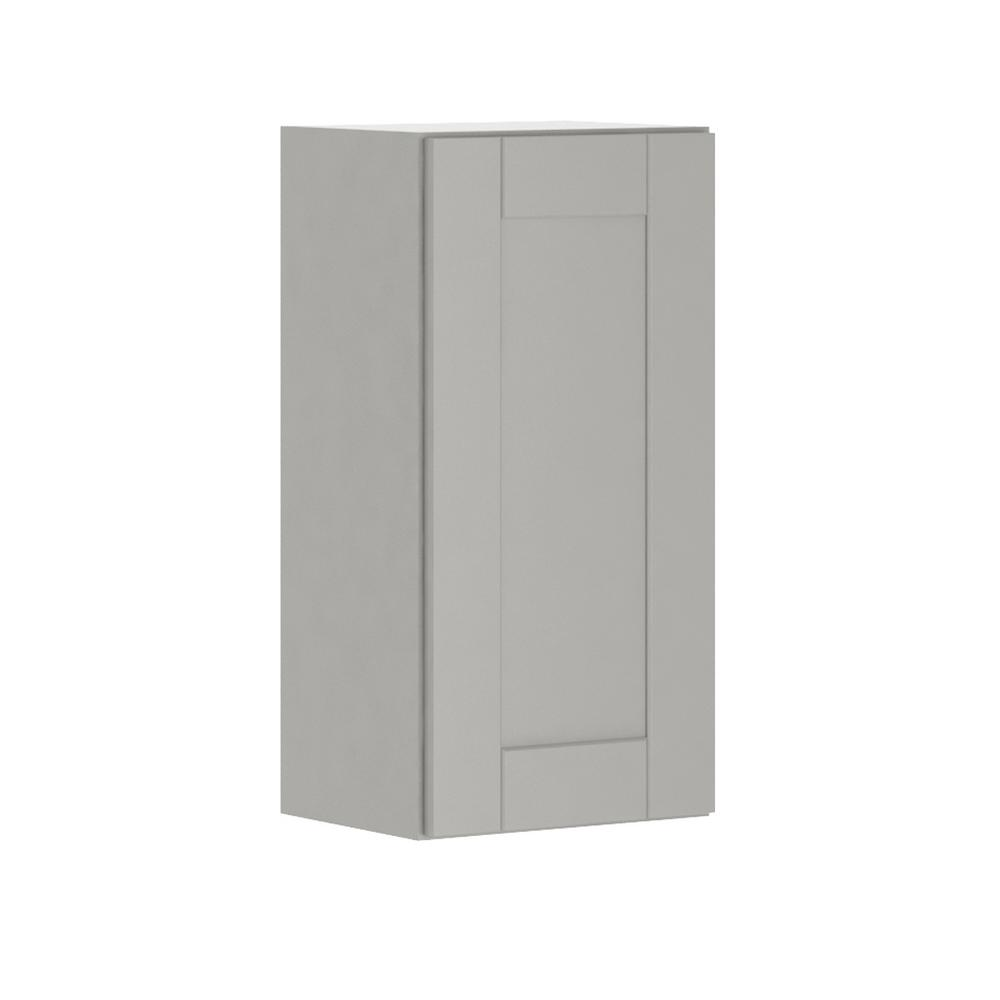 Princeton Shaker Assembled 15x30x12 in. Wall Cabinet in Warm Gray