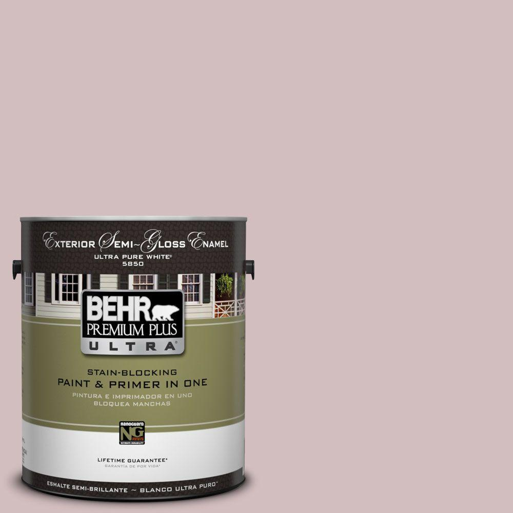 BEHR Premium Plus Ultra 1-gal. #UL100-14 Embroidery Semi-Gloss Enamel Exterior Paint-DISCONTINUED