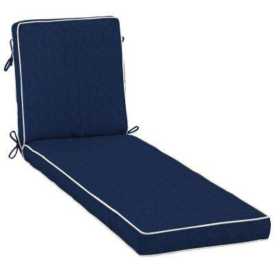 Amazing Sunbrella Spectrum Indigo Outdoor Chaise Lounge Cushion
