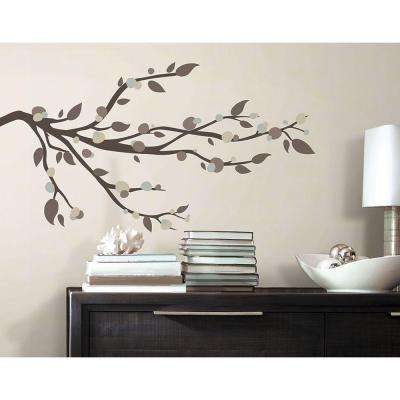 5 in. x 11.5 in. Mod Branch Peel and Stick Wall Decals