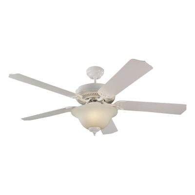 Quality Max Plus 52 in. White Indoor Ceiling Fan