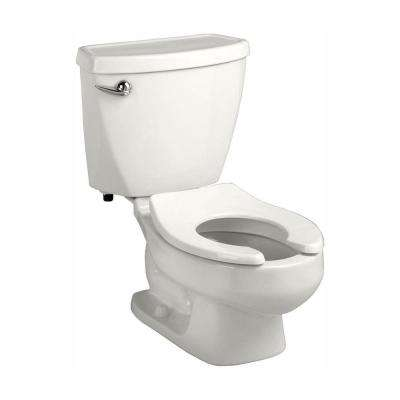 Baby Devoro FloWise 10 in. Rough-In 2-piece 1.28 GPF Single Flush Round Toilet in White