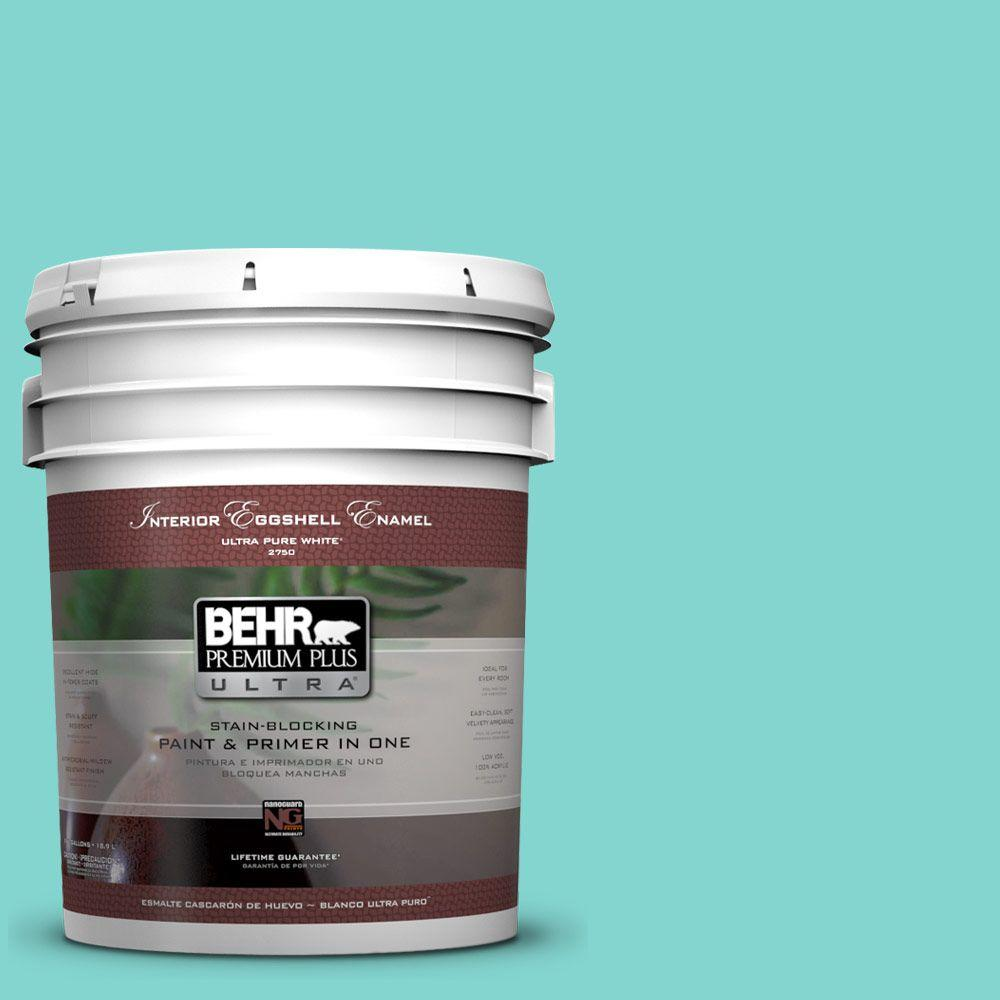 BEHR Premium Plus Ultra Home Decorators Collection 5-gal. #HDC-MD-09 Island Oasis Eggshell Enamel Interior Paint