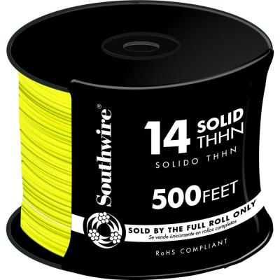 500 ft. 14 Yellow Solid CU THHN Wire