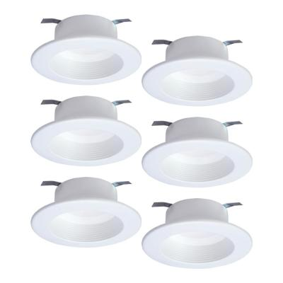 RL 4 in. White Tunable Bluetooth Smart Integrated LED Recessed Ceiling Light Trim CCT (2700K-5000K) (6-Pack)