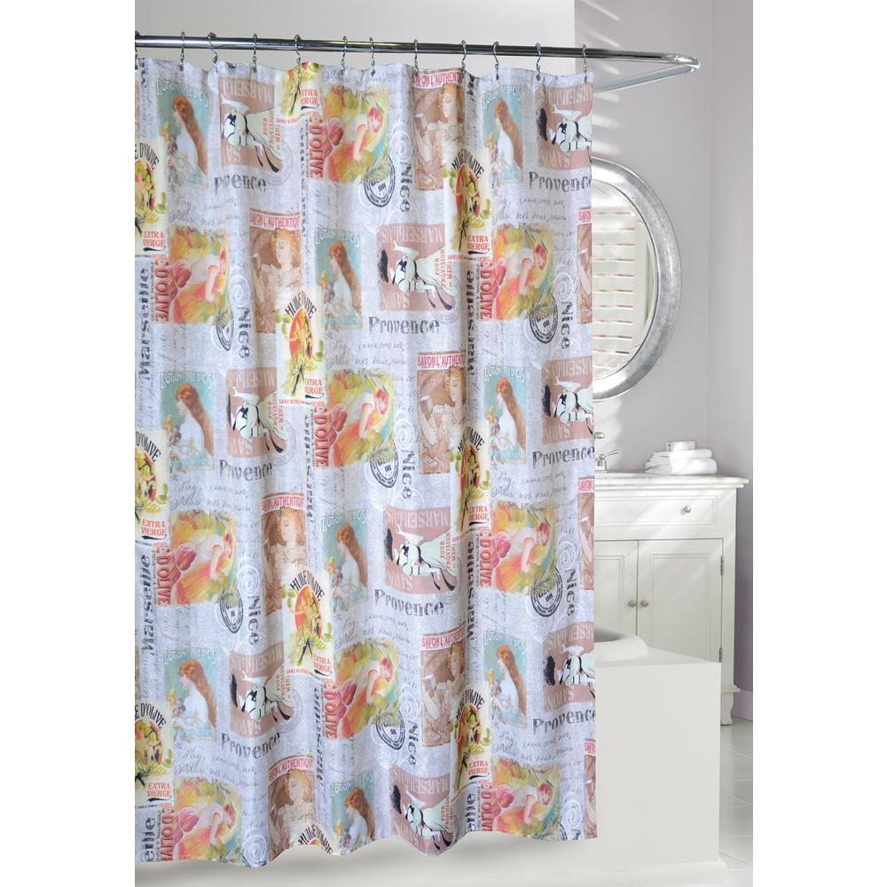 Multi Color Fabric Shower Curtain 205079