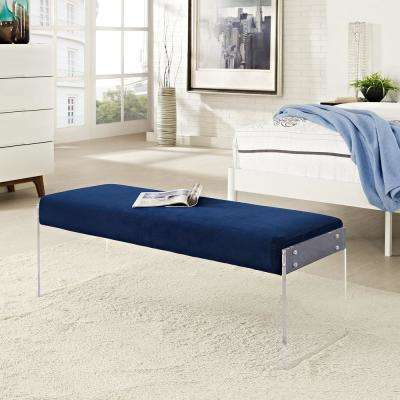 Roam Navy Velvet Bench