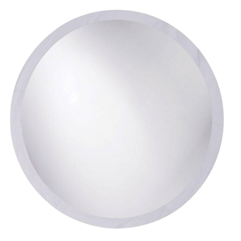 Bellaterra Home Toledo 22 in. x 22 in. Single Frameless Round Wall Mount Beveled Mirror