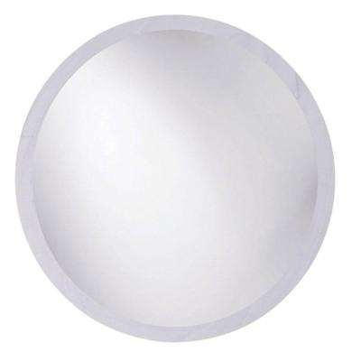 Toledo 22 in. x 22 in. Single Frameless Round Wall Mount Beveled Mirror