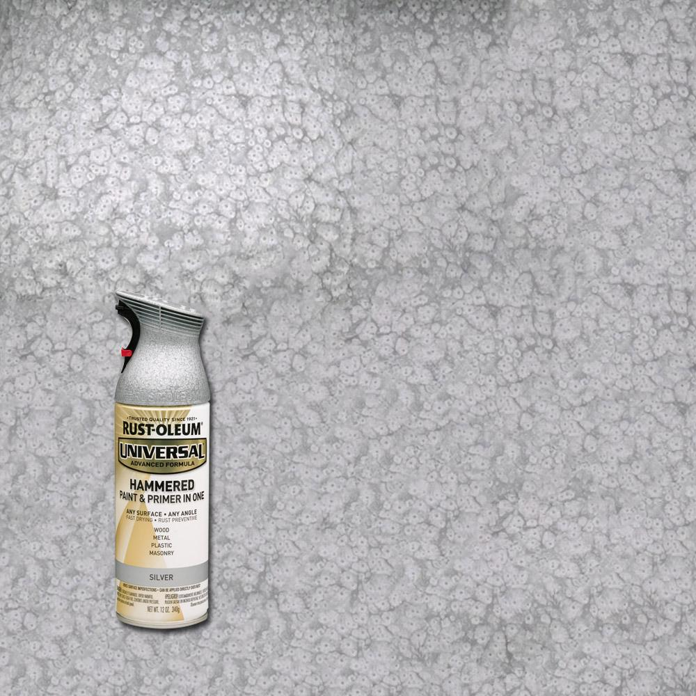Rust-Oleum Universal 12 oz. All Surface Hammered Silver Spray Paint and Primer in One