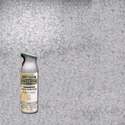 12 oz. All Surface Hammered Silver Spray Paint and Primer in One