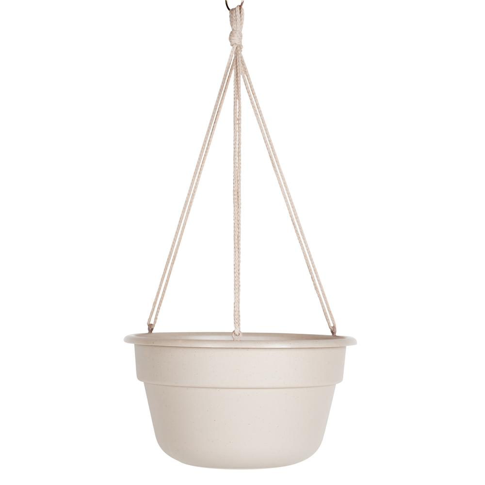 Dura Cotta 12 in. Taupe Plastic Hanging Basket