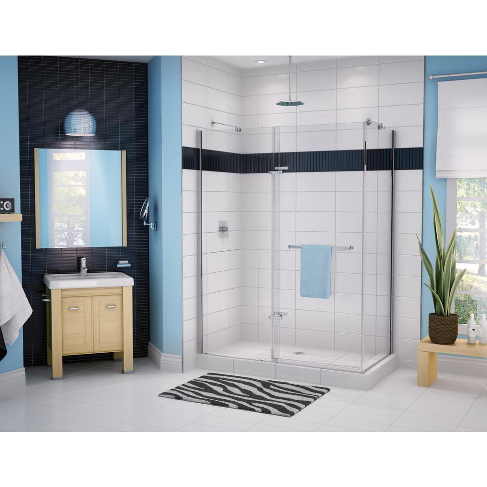 MAAX Reveal 60 in. x 71.5 in. Frameless Corner Pivot Shower ...