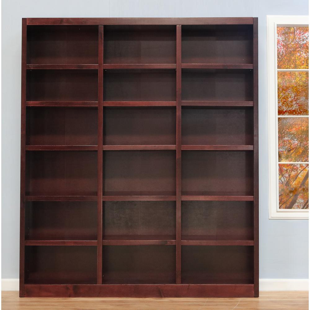 Cherry Wood 18 Shelf Standard Bookcase