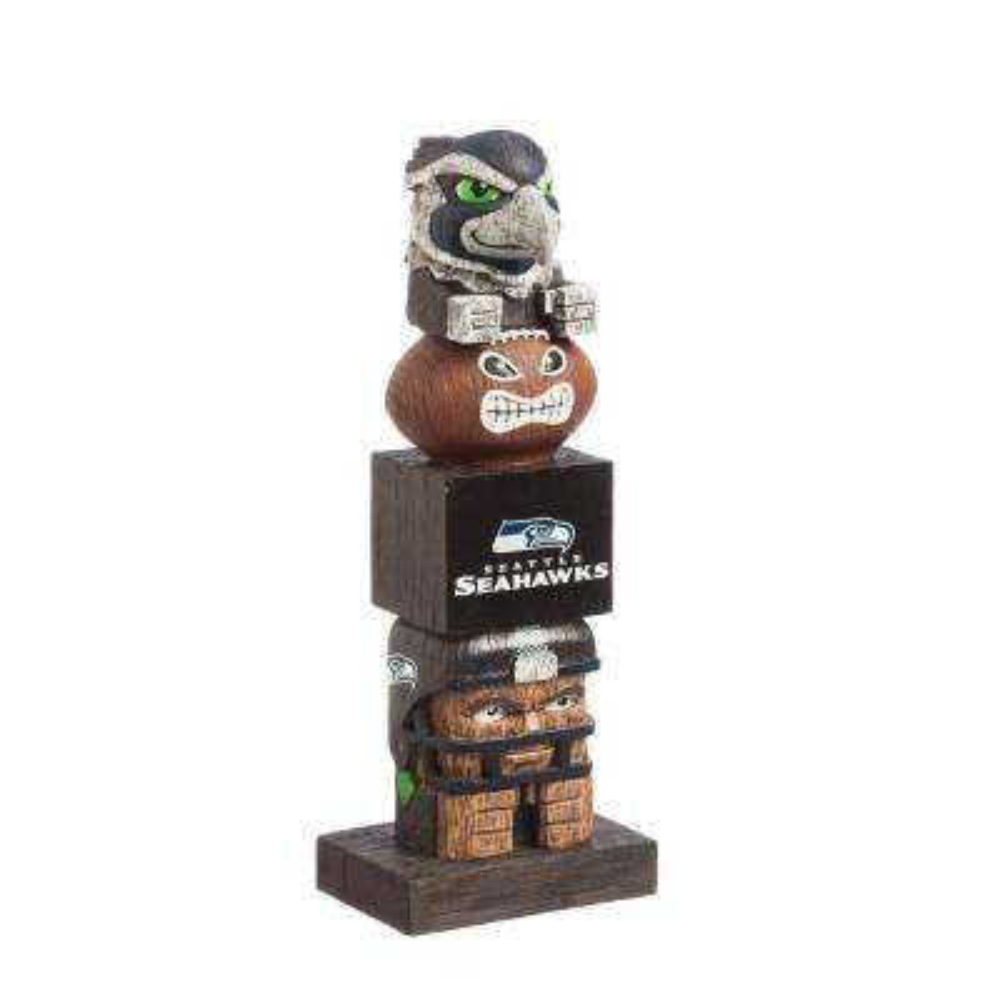 Seattle Seahawks Tiki Totem Garden Statue