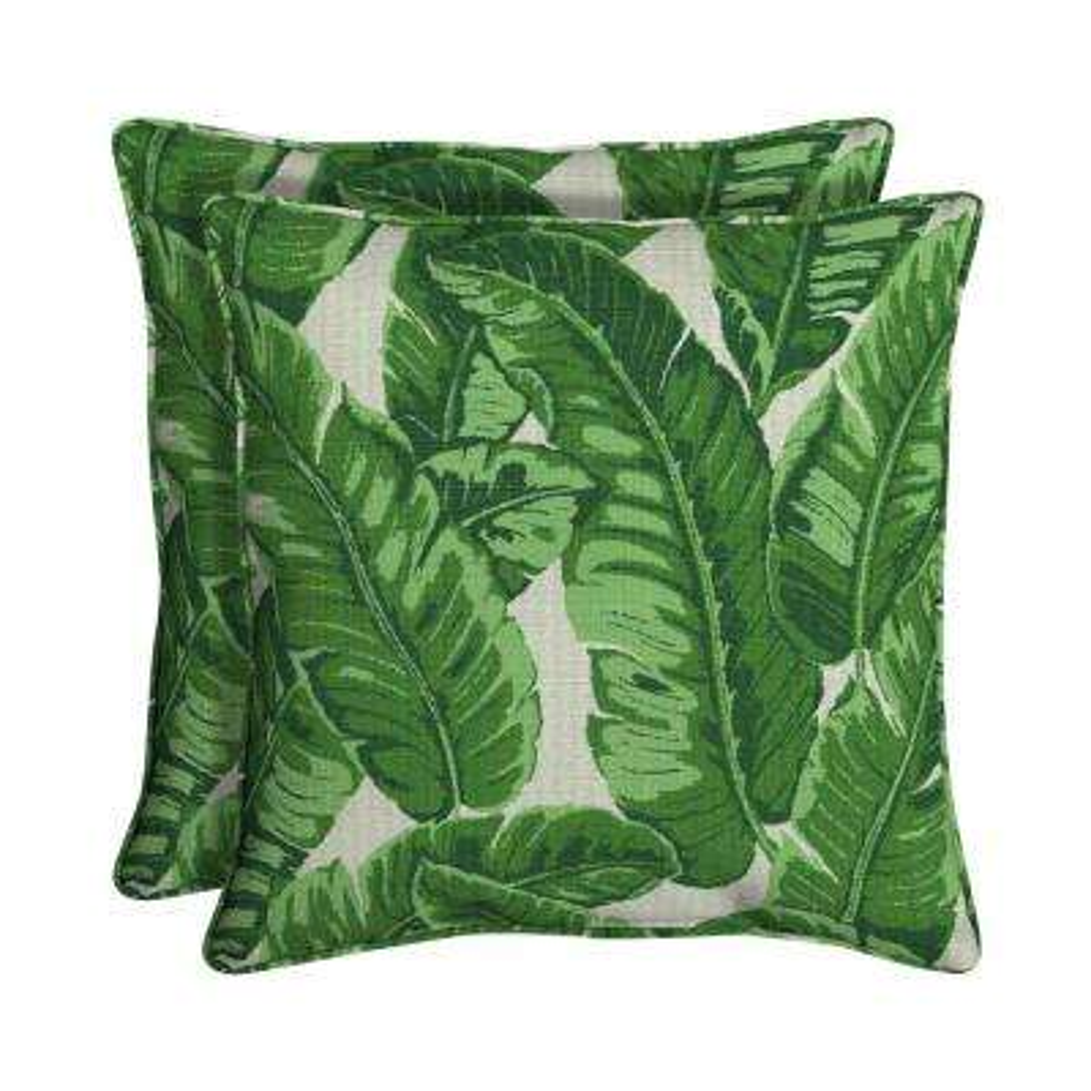 Sunbrella Tropics Jungle Square Outdoor Throw Pillow (2-Pack)