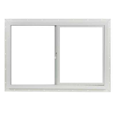 35.5 in. x 23.5 in. Left-Hand Single Glass Sliding Vinyl Window with Screen