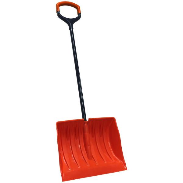 Bigfoot Series 19 in. Poly Combination Snow Shovel with Double Wide Shock Absorbing D-Grip