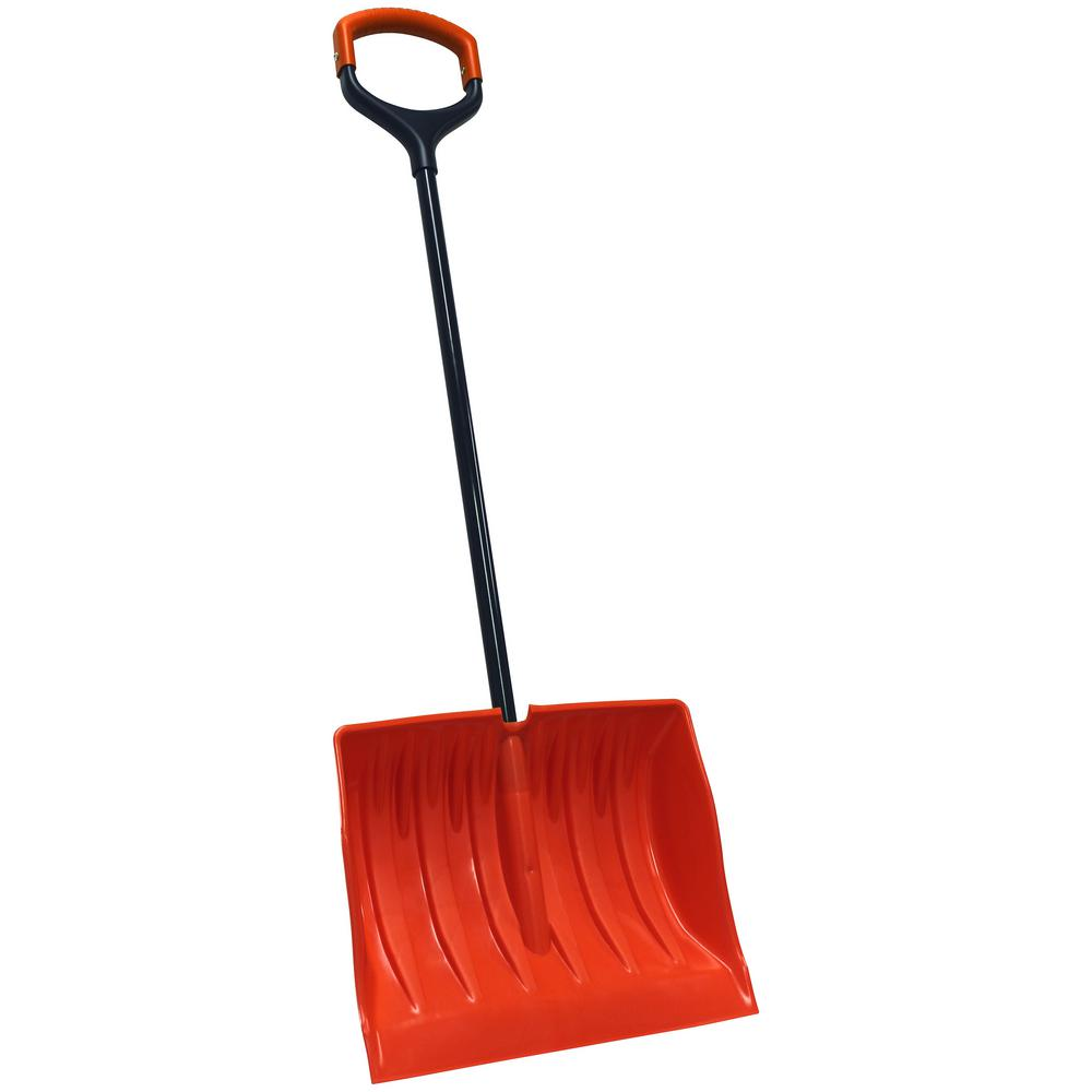 Bigfoot Series 19 in. Poly Combination Snow Shovel with Double Wide