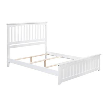 Mission White Queen Traditional Bed with Matching Foot Board