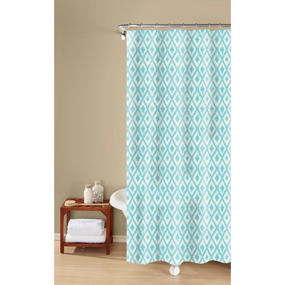 Inspired Surroundings IKAT SHOWER CURTAIN